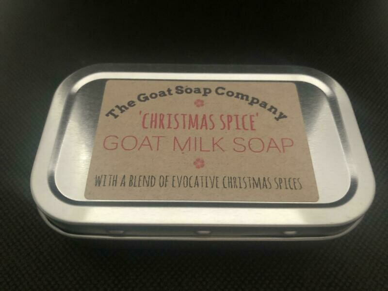 'Christmas Spice' Goat Milk Soap-In-a-Tin