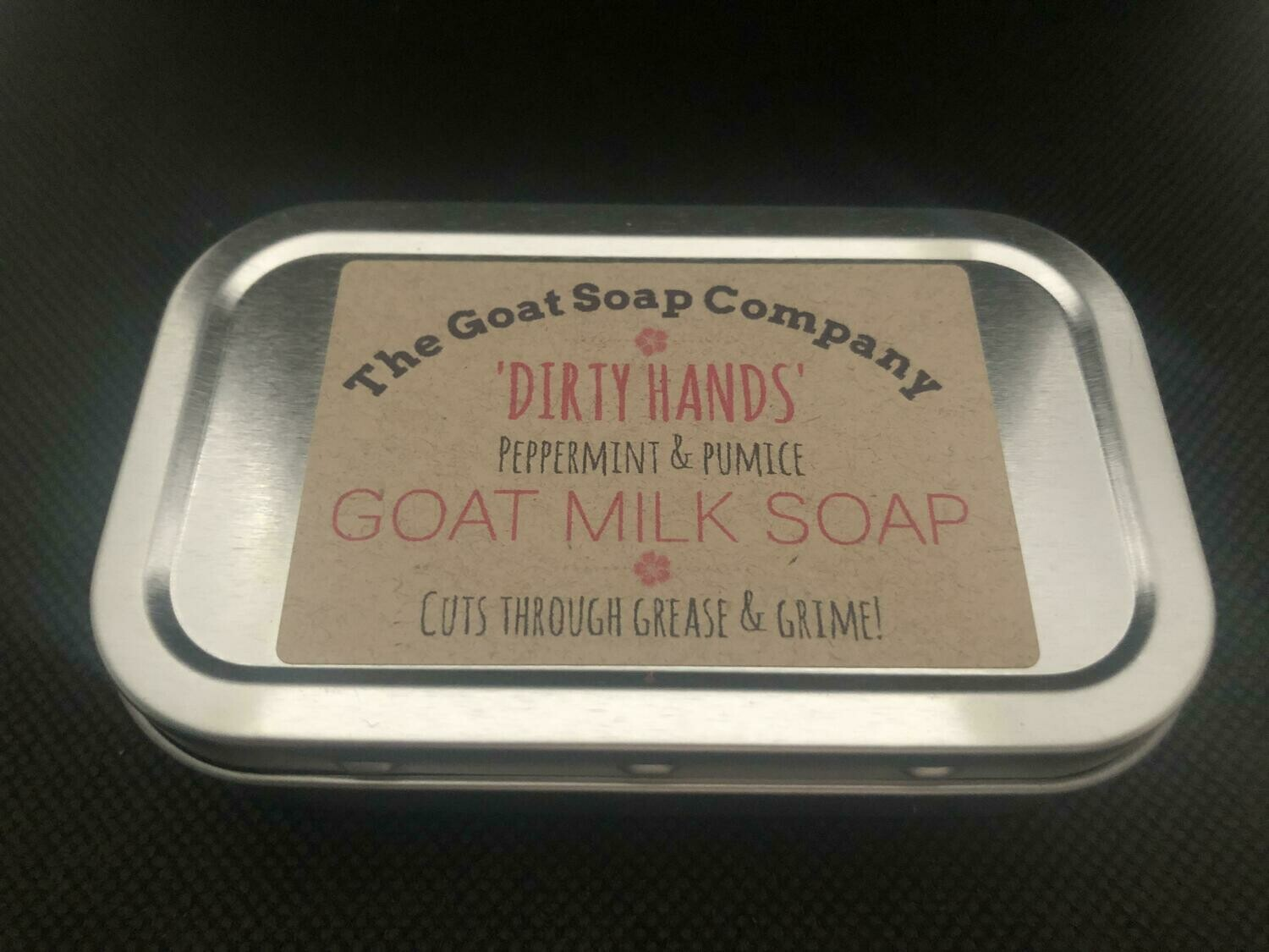 'Dirty Hands' Peppermint & Pumice Goat Milk Soap-In-a-Tin