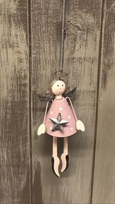 Pink Metal Springy Angel