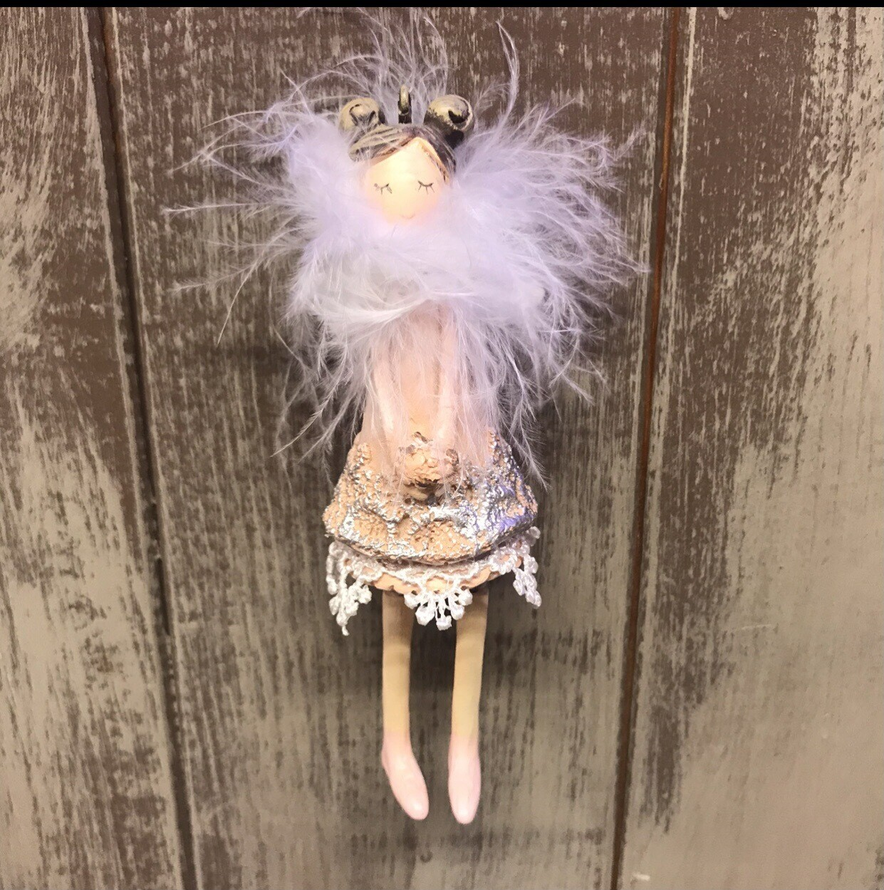 Feather Scarf Hanging Fairy