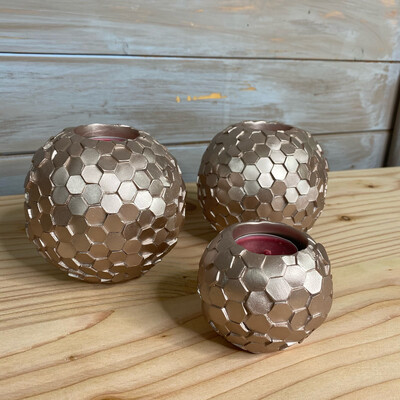 Rose Pink Tealight Holders