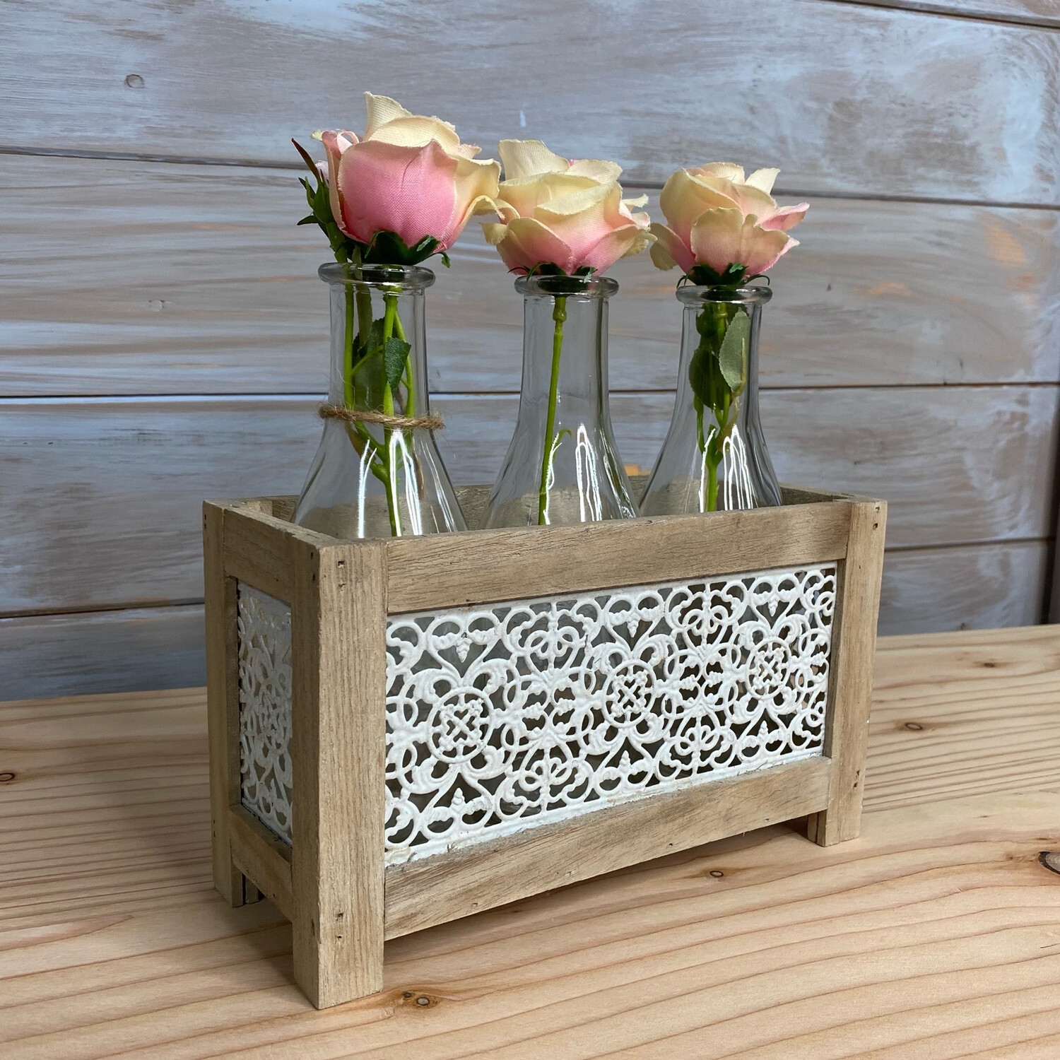 Wooden Milk Bottle Crate