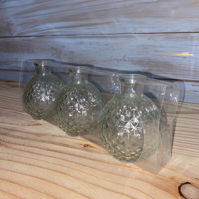Set Of 3 Glass Jars