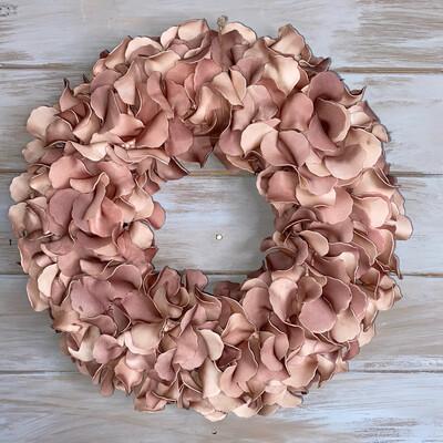 Pink Petal Hydrangea Wreath