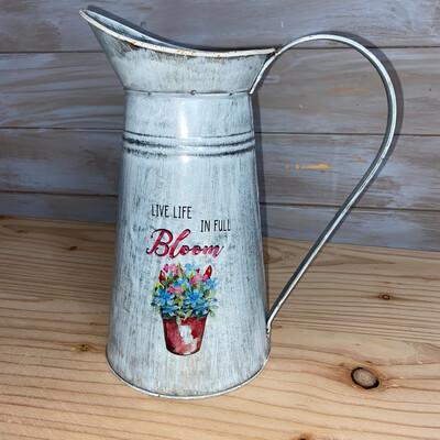 Bloom Galvanised Jug