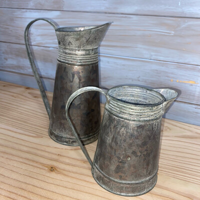 Rustic Metal Jugs