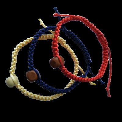 Противопатогенный плетеный браслет