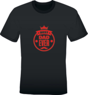 'BEST DAD EVER' MEN'S PRINTED T-SHIRT (BLACK)