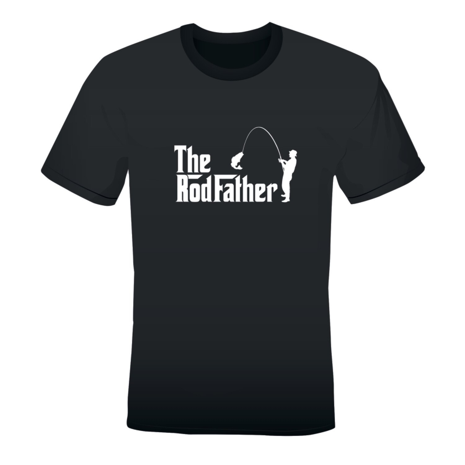 'THE RODFATHER' MEN'S PRINTED T-SHIRT (BLACK)