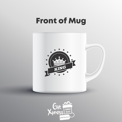 CUSTOMIZED KING & QUEEN COUPLES MUGS