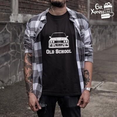 MEN'S 'OLD SCHOOL BEEMER' PRINTED T-SHIRT (BLACK)
