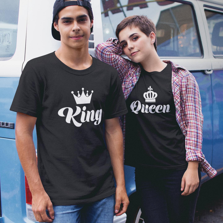 KING & QUEEN T-SHIRTS (BLACK)