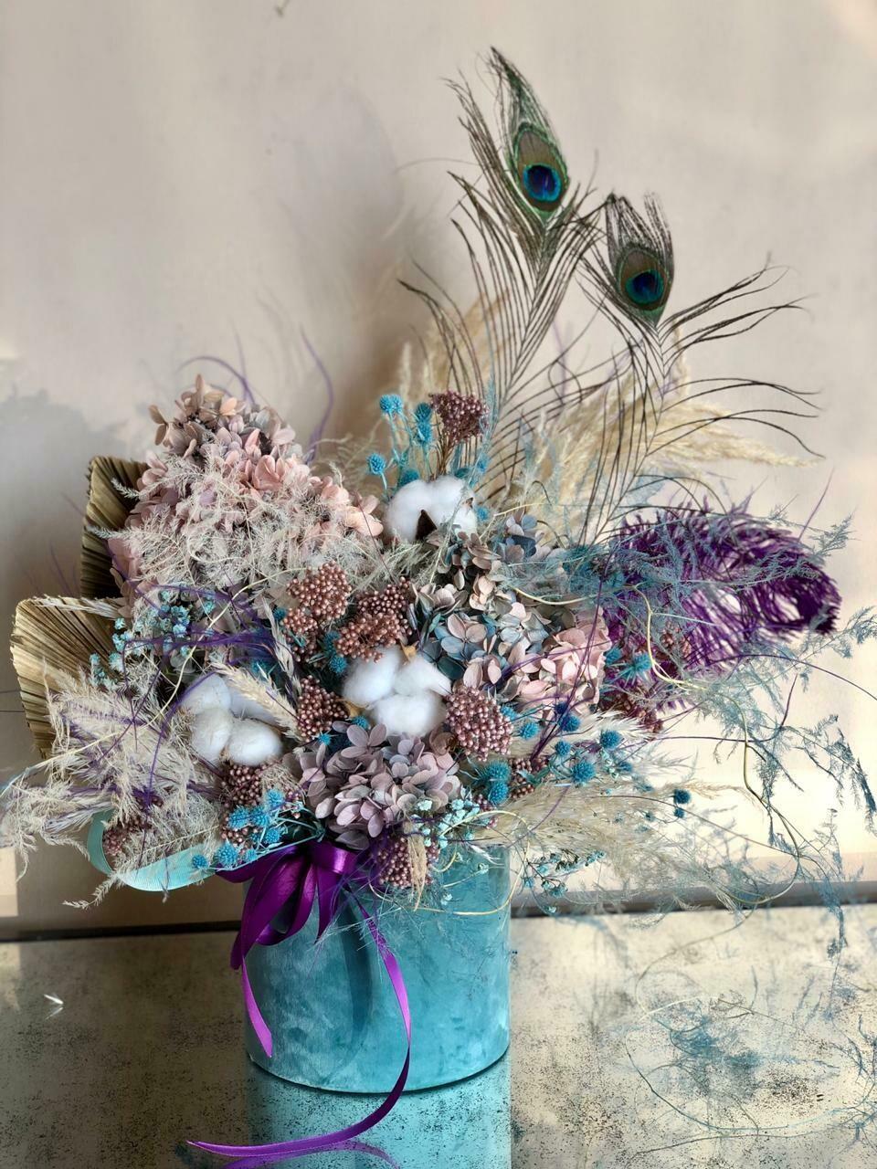 Blue / Purple - Dry Flowers box