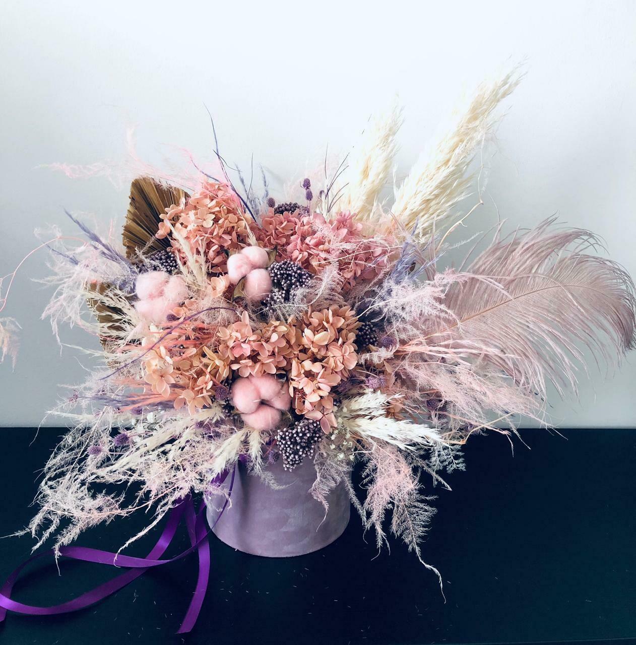 Pink / Purple - Dry Flowers box