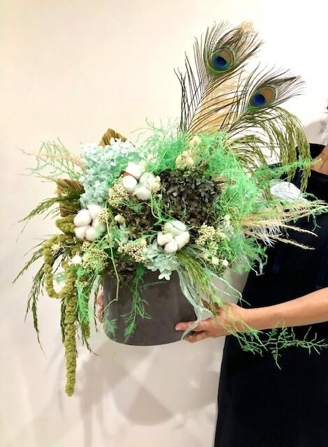 Green Dry Flowers Box