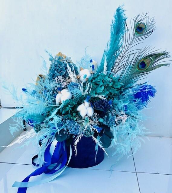 Blue - Dry Flowers box