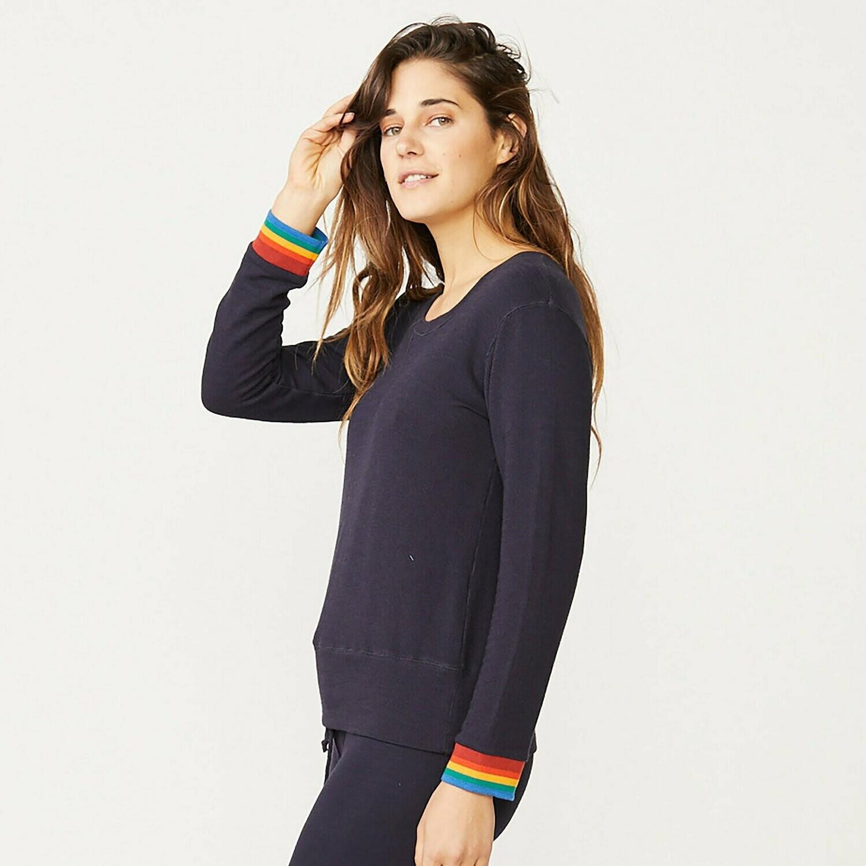 Sweatshirt W/Rainbow Cuff