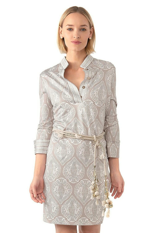 Mandarin Dress W/Belt