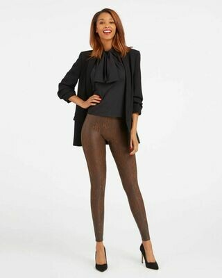 Faux Leather Snakeskin Legging