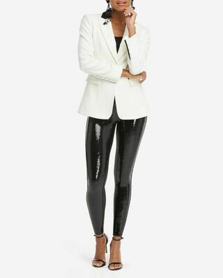 Faux Leather/Sequin Legging