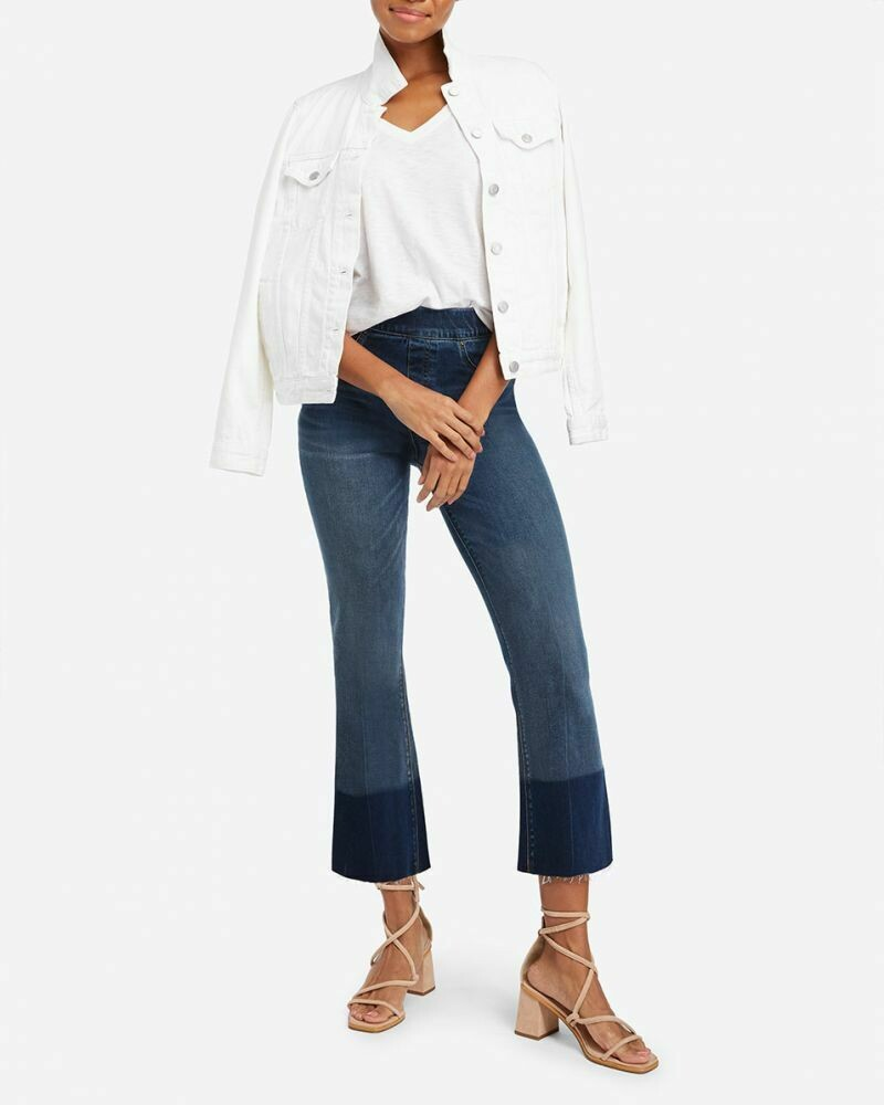 Cropped Flare Denim