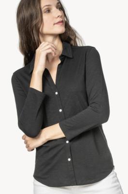 3/4 Sleeve Button Shirt