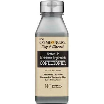 CREME OF NATURE CLAY & CHARCOAL SOFTEN & MOISTURE REPLENISH CONDITIONER 12oz