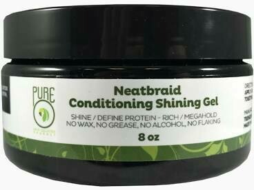 PUREO NATURAL NEAT BRAID CONDITIONING SHINING GEL 8oz