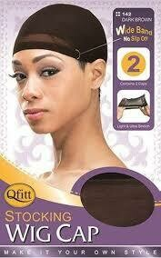 QFITT STOCKING WIG CAP #100 BLACK