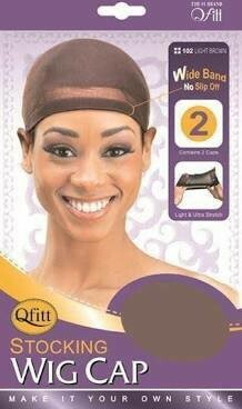 QFITT STOCKING WIG CAP LIGHT BROWN #102