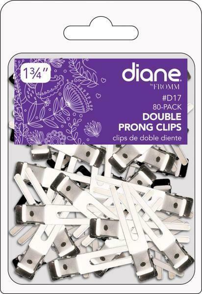 """DIANE DOUBLE PRONG CLIPS 1 3/4"""" 80 PK #D17"""