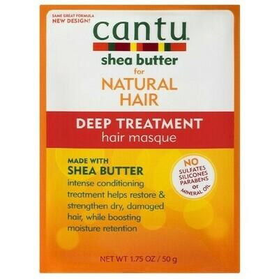CANTU SHEA BUTTER FOR NATURAL HAIR DEEP TREATMENT HAIR MASQUE 1.5oz