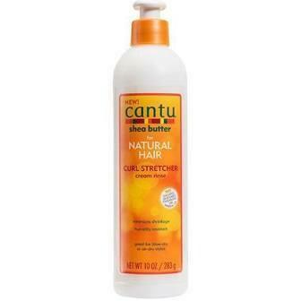 CANTU SHEA BUTTER FOR NATURAL HAIR CURL STRETCHER CREAM RINSE 10oz