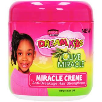 AFRICAN PRIDE DREAM KIDS OLIVE MIRACLE CREME ANTI-BREAKAGE HAIR STRENGTHENER 6oz