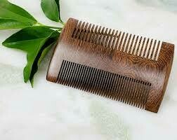 BT ECO GREEN DOUBLE SIDED SANDALWOOD COMB #82893