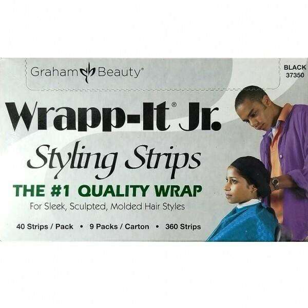 GRAHAM SANEK WRAPP-IT JR. STYLING STRIPS BLACK - 40 STRIPS
