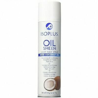 ISOPLUS OIL SHEEN LIGHT HAIR SPRAY WITH COCONUT OIL 9oz
