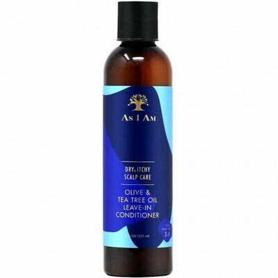AS I AM DRY & ITCHY SCALP CARE OLIVE & TEA TREE OIL LEAVE-IN CONDITIONER 8oz