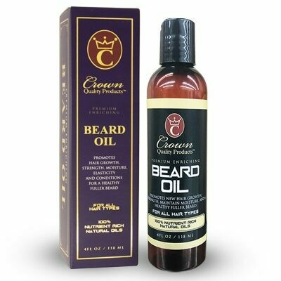 CROWN QUALITY PRODUCTS BEARD OIL 4oz