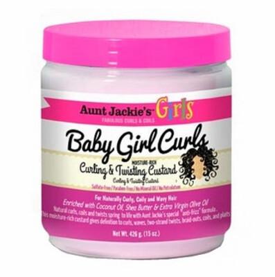 AUNT JACKIE'S KIDS BABY GIRL CURLS MOISTURE RICH CURLING & TWISTING CUSTARD 15oz