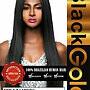 "BLACK GOLD  100% BRAZILIAN HUMAN HAIR STRAIGHT 22"" - NATURAL BLACK"