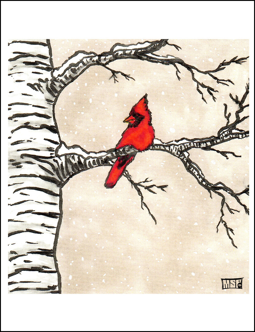 Cardinal - Thank You - Single Card