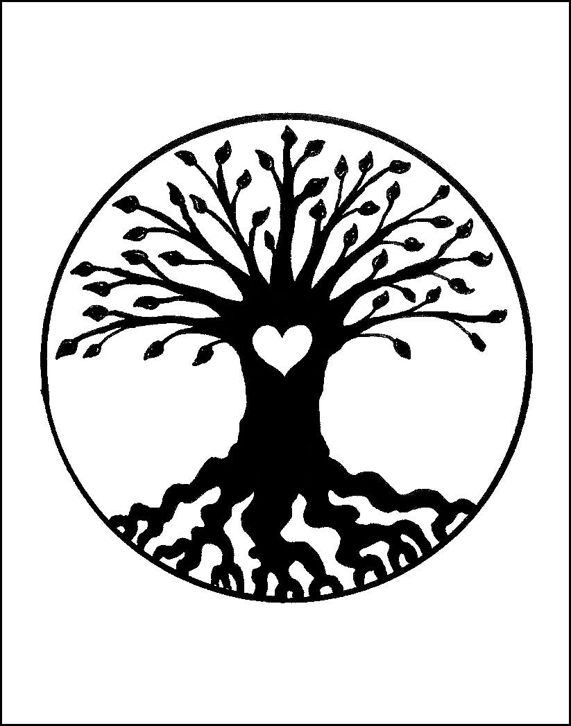 Tree of Life & Love - Valentine - Single Card