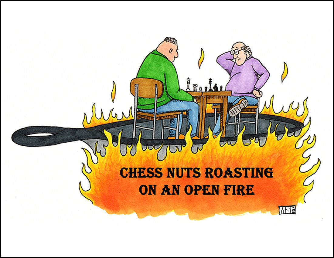 Chess Nuts Roasting - Boxed Cards