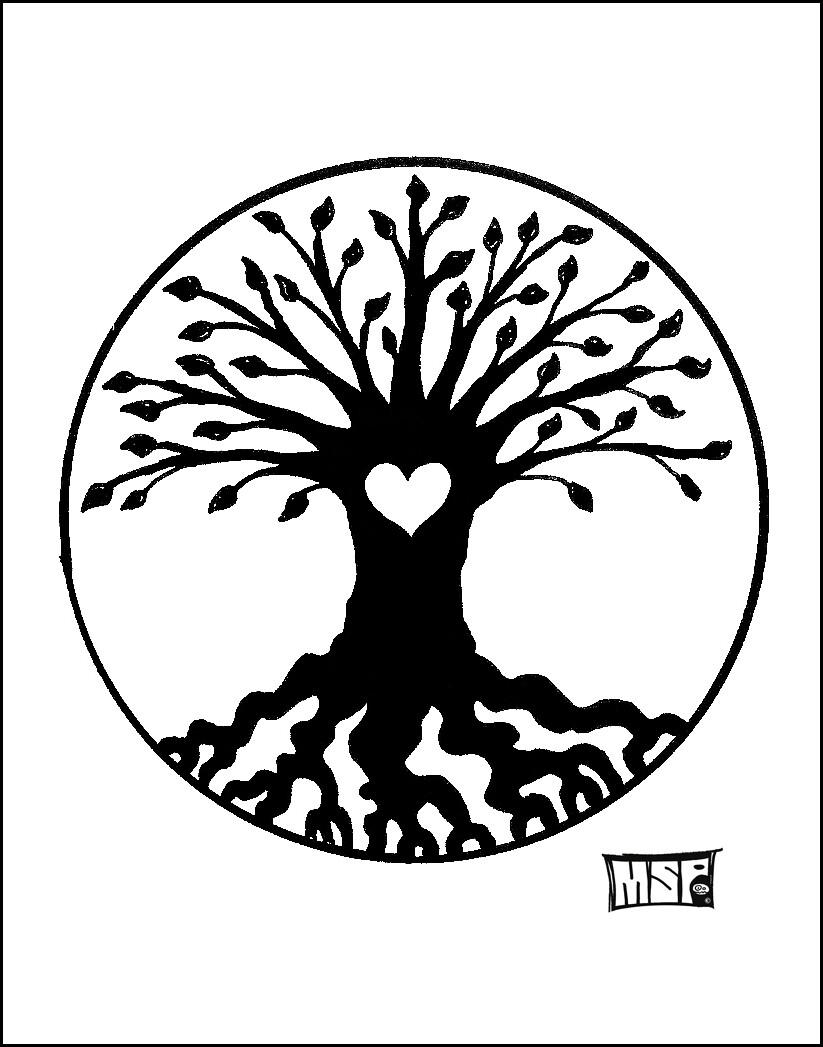Tree of Life & Love - Blank - Single Card