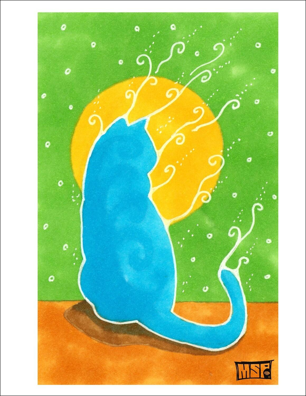 Blue Cat - Single Card