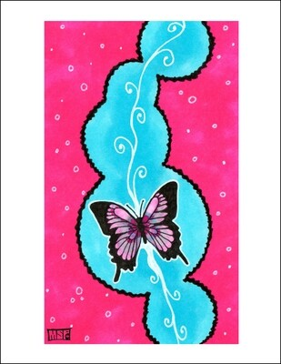 Butterfly - Blank - Single Card