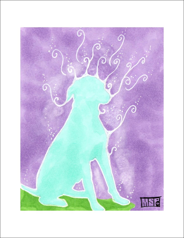 Aqua Dog - Single Card