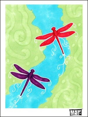 Dragonflies - Boxed Cards