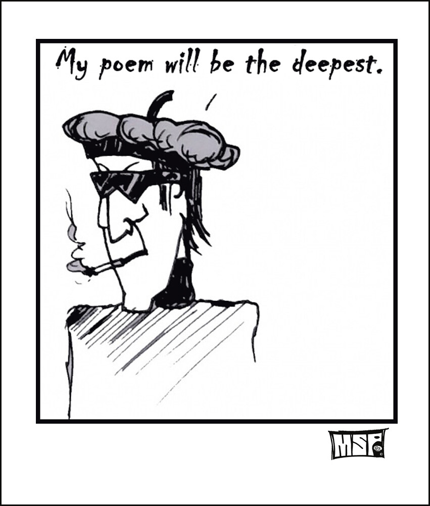 My Poem Will Be The Deepest - Blank - Single Card